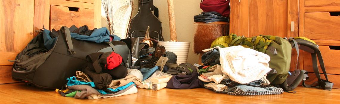Reise Hunter Vor der Reise Probepacken