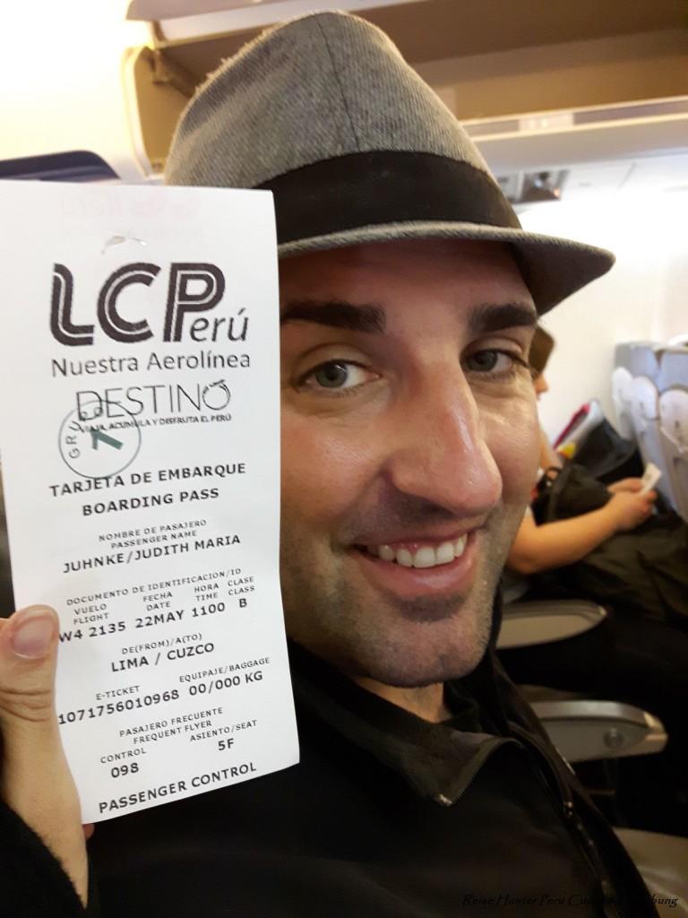 Reise Hunter Peru im Flieger