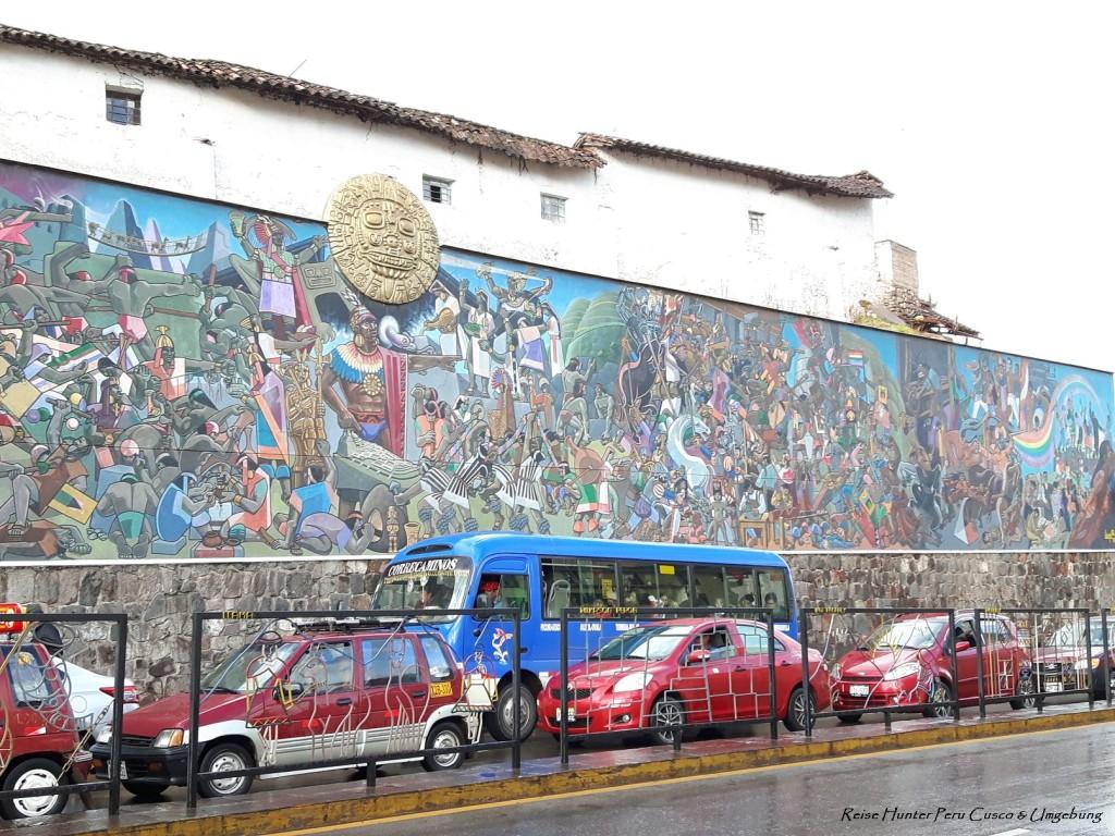 Reise Hunter Cusco Wandmalerei