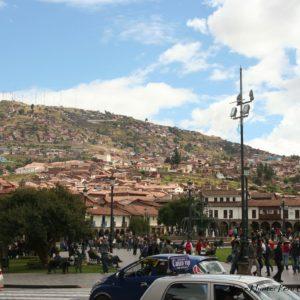 Reise Hunter Cusco Zentrum Blick Umgebung