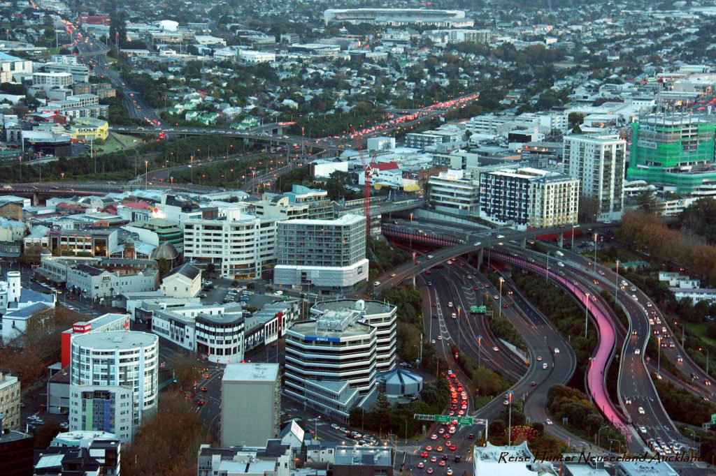 Reise Hunter Neuseeland Auckland city sunset