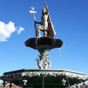 Reise Hunter Cusco Plaza de Armas Inka Atahualpa