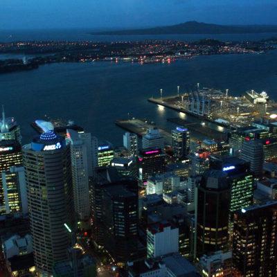 Reise Hunter Neuseeland Auckland Hafensicht