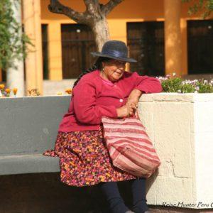 Reise Hunter Cusco ältere Frau