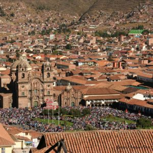 Reise Hunter Cusco Stadtblick PlazadeArmas