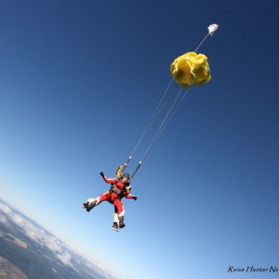 Reise Hunter Neuseeland Taupo Skydiving Fallschirm