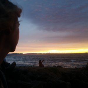 Reise Hunter Australien Byron Bay Sonne geht unter Judith