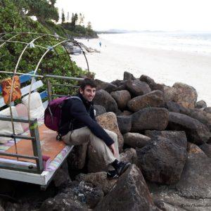 Reise Hunter Australien Byron Bay Strand Chilllounge