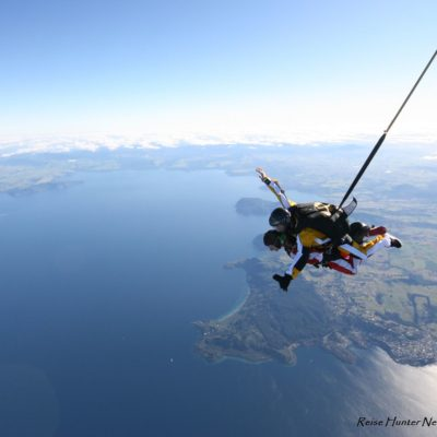 Reise Hunter Neuseeland Taupo Skydiving FreeFall
