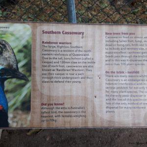 Reise Hunter Australien Bisbane Lone Pine Sanctuary Schild