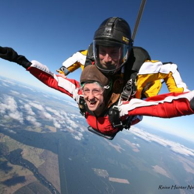 Reise Hunter Neuseeland Taupo Skydiving FreeFall2