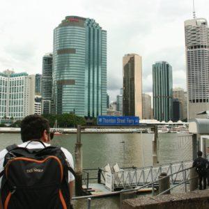 Reise Hunter Australien Brisbane Boot Wasserfront DJ