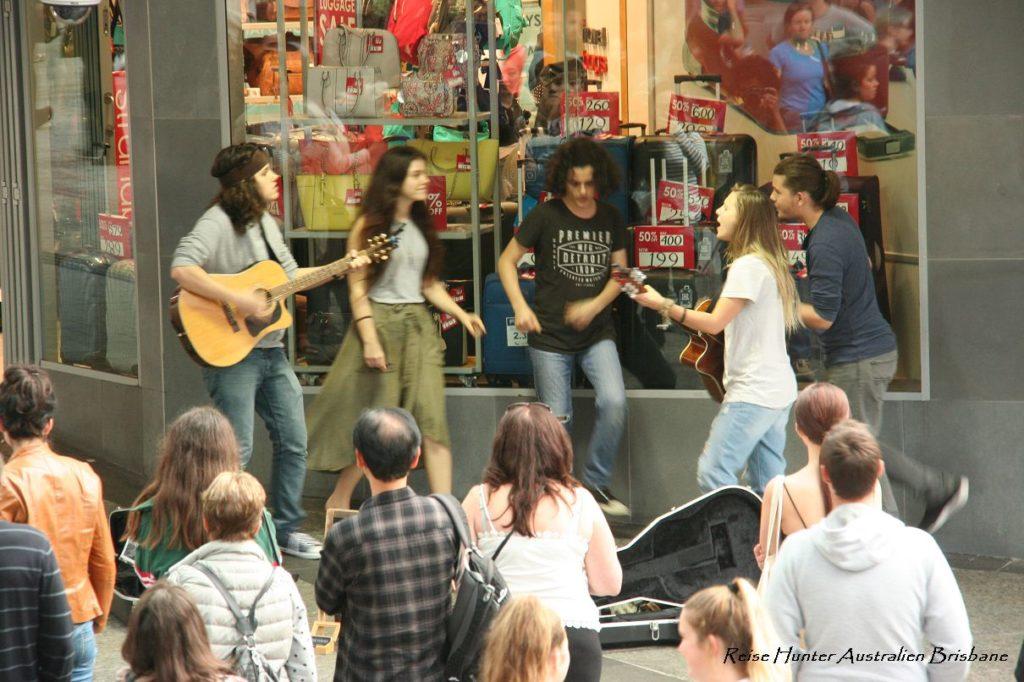 Reise Hunter Australien Brisbane Straßenmusiker