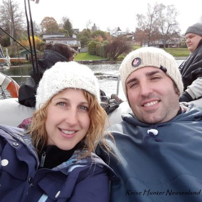 Reise Hunter Neuseeland Lake Taupo Bootsfahrt D+J