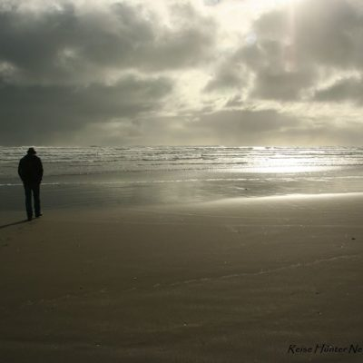 Reise Hunter Neuseeland Raglan Hauptstand dunkler Sand