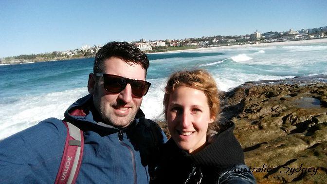 Reise Hunter Australien Sydney Bondi Beach Selfi 2