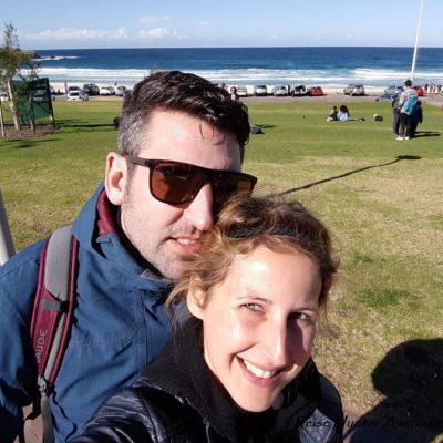 Reise Hunter Australien Sydney Bondi Beach Selfi