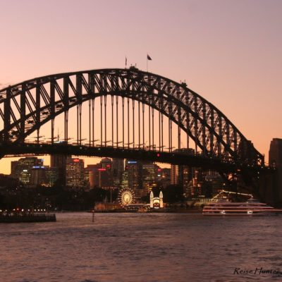Reise Hunter Australien Sydney Brücke am Abend 2