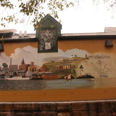 Reise Hunter Australien Sydney Wandmalerei