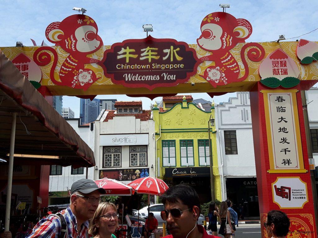 Reise Hunter Singapur China Town Eingang