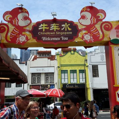 Reise Hunter Singapur China Town Eingang