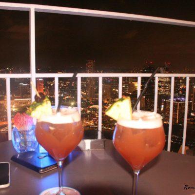 Reise Hunter Singapur Dachterasse Marina Bay Hotel Singapur Sling 2