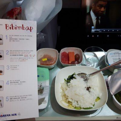 Reise Hunter Singapur Food Flugzeugessen Bibimbap