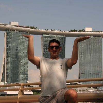Reise Hunter Singapur Marina Bay Tower Hebefigur