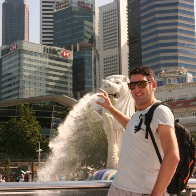 Reise Hunter Singapur Meerlion und DJ