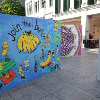 Reise Hunter Singapur Straßenkunst