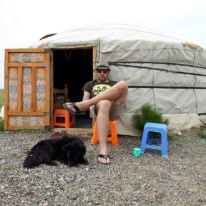 Reise Hunter Mogolei Entspannen mit Pedro