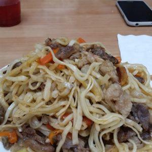 Reise Hunter Mogolei Essen Fleisch mit Nudeln