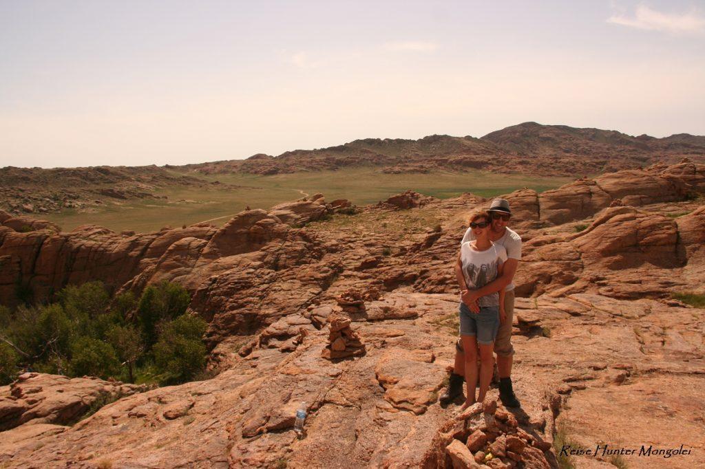 Reise Hunter Mongolei Fels