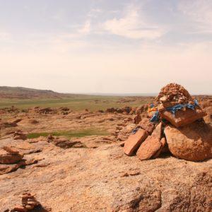 Reise Hunter Mongolei Fels3