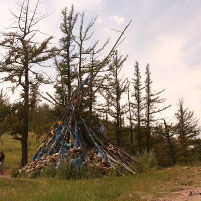 Reise Hunter Mongolei Gebetshaufen