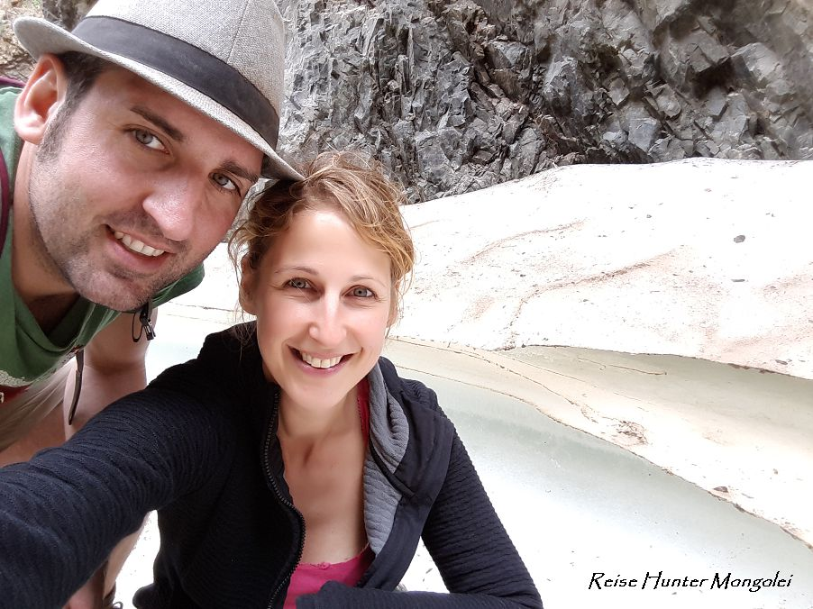Reise Hunter Mogolei Gletscher Selfi