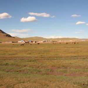 Reise Hunter Mongolei Kleine Ortschaft