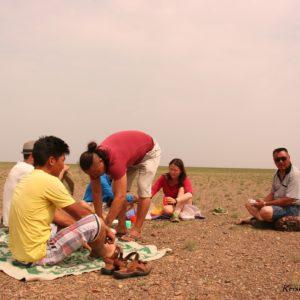 Reise Hunter Mongolei Mittag Gobi