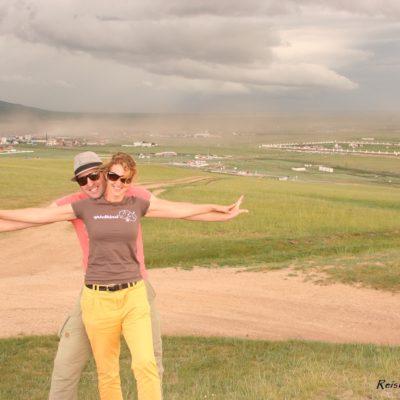 Reise Hunter Mongolei Murun von oben JuD