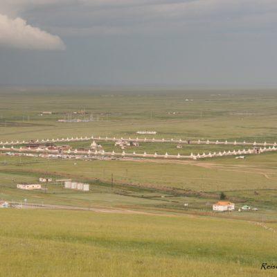 Reise Hunter Mongolei Murun von oben2