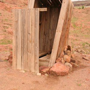 Reise Hunter Mongolei Ongi Ruine Toilette