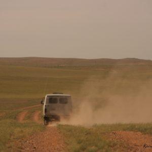 Reise Hunter Mongolei Russischer Wagen