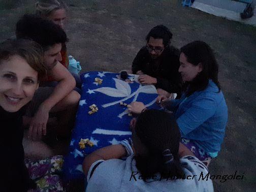 Reise Hunter Mogolei Schafs-Knöchel-Knochen Spiel am Abend