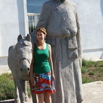 Reise Hunter Mogolei Statue Größter Mensch
