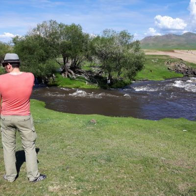 Reise Hunter Mogolei Stop am Fluss