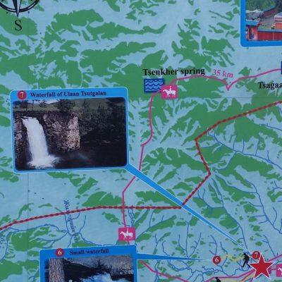 Reise Hunter Mogolei Wasserfall Ulaan Tsutgalan