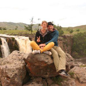 Reise Hunter Mongolei Wasserfall2