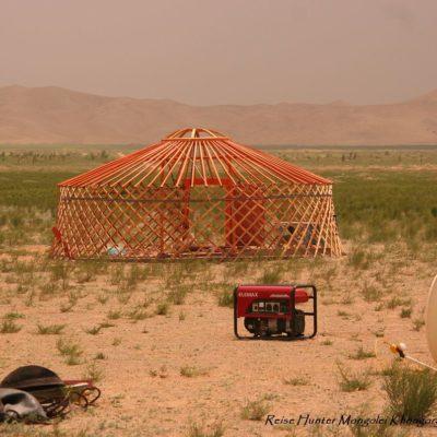 Reise Hunter Mongolei Jurtengerüst