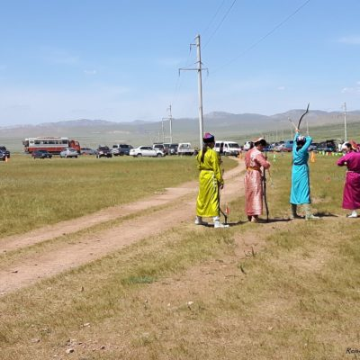 Reise Hunter Mongolei Nadaam Fest Bogenschießen 2