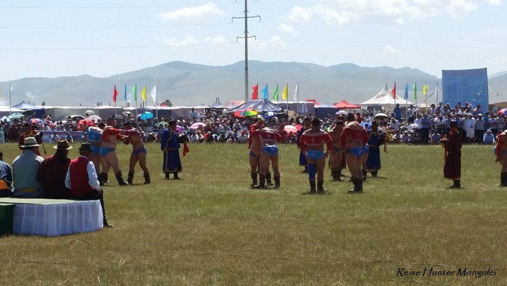 Reise Hunter Mongolei Nadaam Fest Ringen
